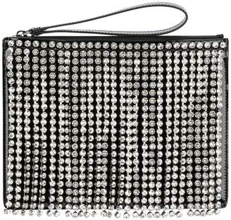 Christopher Kane Swarovski crystal fringe clutch