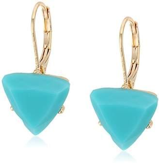 ABS by Allen Schwartz Going Coastal Turquoise Stone Drop Pierced Earrings