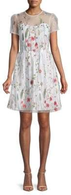 Drew Embroidered Floral Lace Dress