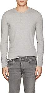 ATM Anthony Thomas Melillo Men's Rib-Knit Modal Henley - Gray