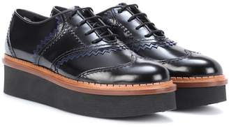 Tod's Platform leather Oxford shoes