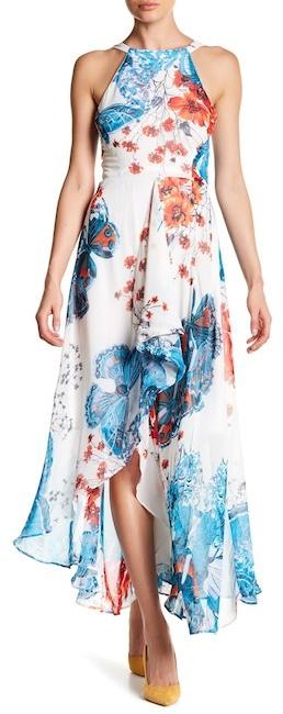 Eva FrancoEva Franco Jenine Cascading Front Maxi Dress