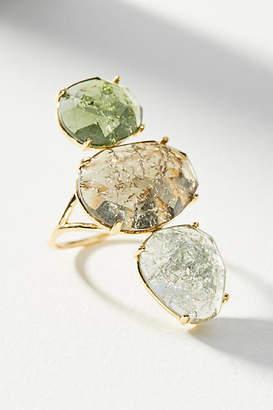 Anthropologie Crackled Stones Cocktail Ring