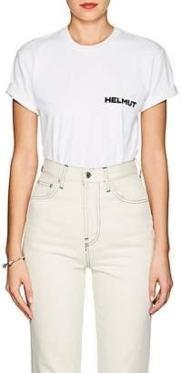 "Helmut Lang Women's ""In Lang We Trust"" Cotton T-Shirt - White"