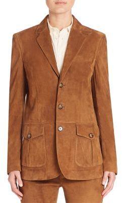 Polo Ralph Lauren Suede Jacket $1,298 thestylecure.com