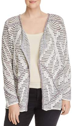 Nic+Zoe Plus Desert Dot Open Cardigan