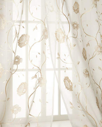 "Creative Threads Each 108""L Regal Embroidered Floral Sheer"