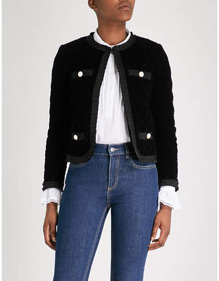 Claudie Pierlot Quilted velvet jacket
