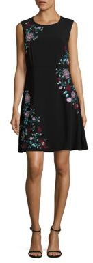 Laundry by Shelli Segal Embroidered A-Line Dress $245 thestylecure.com