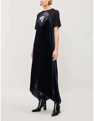 Zadig & Voltaire Risty lace-trim velvet dress