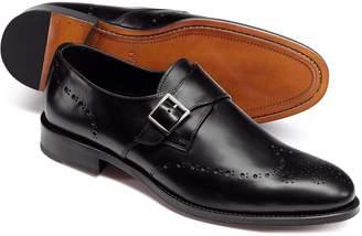 Charles Tyrwhitt Black Brogue Monk Shoes Size 11.5