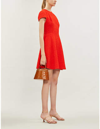 Ted Baker Crinkled fit-and-flare stretch-jersey dress