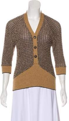 Mayle Textured V-Neck Sweater