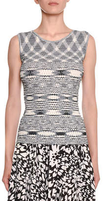 Missoni Crewneck Fish-Scale Net Space-dye Tank
