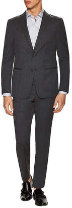 Ermenegildo Zegna Wool Sharkskin Notch Lapel Suit