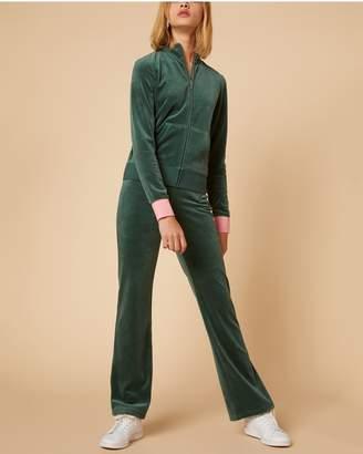 Juicy Couture Juicy Shimmer Script Velour Del Rey Pant
