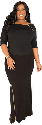 POETIC JUSTICE Poetic Justice curvy french terry knit maxi skirt
