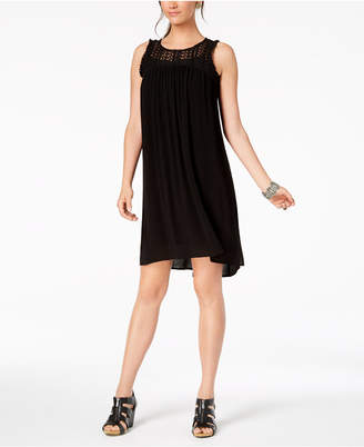 Style&Co. Style & Co Fringe-Trim High-Low Dress