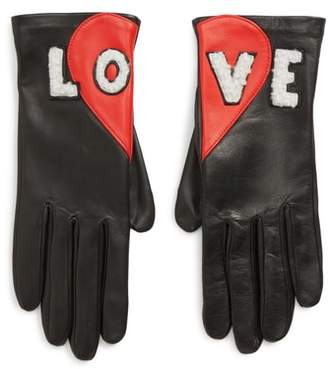 Agnelle Love Genuine Shearling Leather Gloves