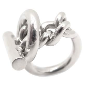 Hermes Croisette silver ring