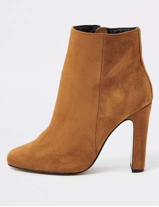 River Island Wide Fit Heel Ankle Boot - Brown