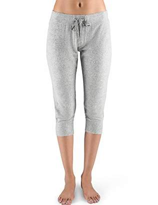 Rebel Canyon Young Women's Super Soft Brushed Jersey Cropped Jogger Sweatpant with Stitching Details