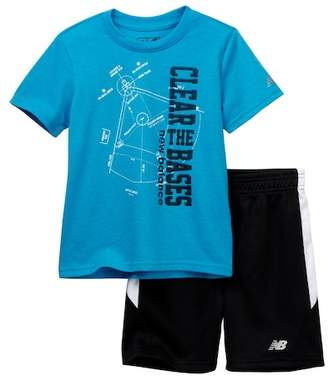 New Balance Graphic Tee & Shorts Set (Toddler Boys)