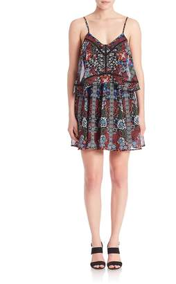 Nicholas Women's Bordor Floral Mini Dress
