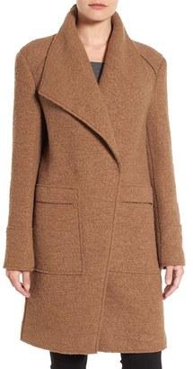 Ellen Tracy Oversize Collar Bouclé Coat $228 thestylecure.com