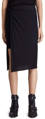AllSaints Sur Twist-Front Midi Skirt
