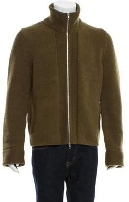 Maison Margiela Zip-Front Wool Cardigan