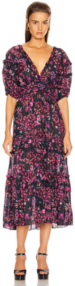 Ulla Johnson Amora Dress in Midnight | FWRD