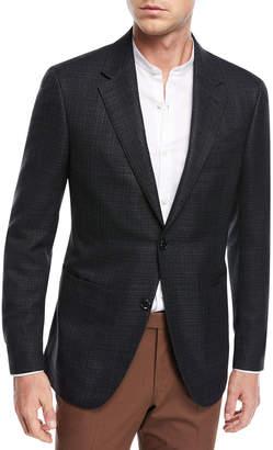 Ermenegildo Zegna Textured Silk/Cotton Blazer