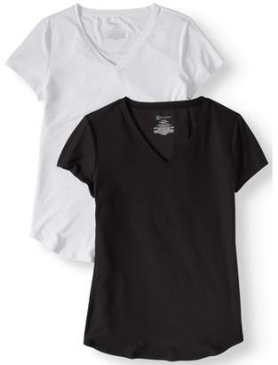 97182bf9bd94 No Boundaries Juniors  Brushed Short Sleeve V-Neck T-Shirt 2-Pack