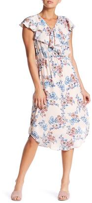 Bobeau Floral Ruffle Midi Dress $78 thestylecure.com