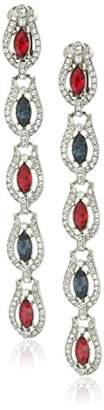 Ben-Amun Jewelry Long Statement Crystal Drop Earrings
