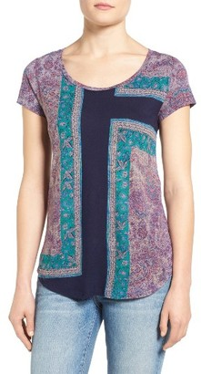 Women's Lucky Brand Mixed Rug Tee $39.50 thestylecure.com