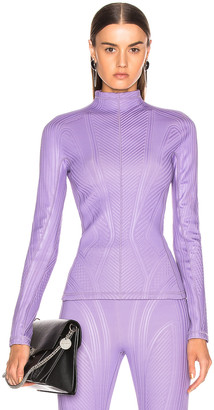 Thierry Mugler Long Sleeve Sport Top in Lilac | FWRD
