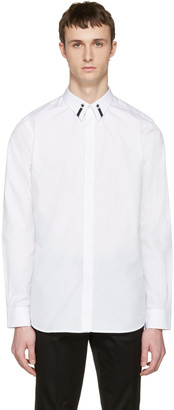 Givenchy White Star Collar Shirt $490 thestylecure.com