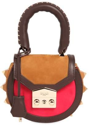 Salar Mimi Mini Bold Color Block Leather Bag