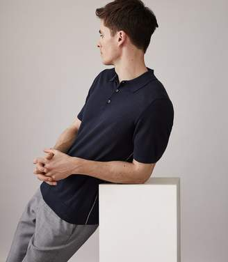 Reiss ORDER BY MIDNIGHT DEC 15TH FOR CHRISTMAS DELIVERY GREIGSON SHORT SLEEVED POLO Indigo
