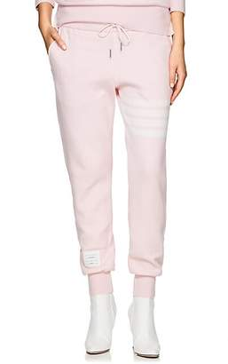 Thom Browne Women's Block-Striped Cashmere-Blend Jogger Pants - Pink