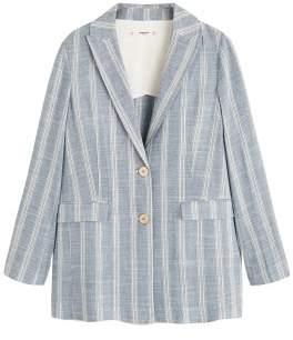 MANGO Striped structured blazer