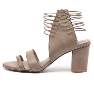 Django & Juliette New Ann Taupe Womens Shoes Casual Sandals Heeled