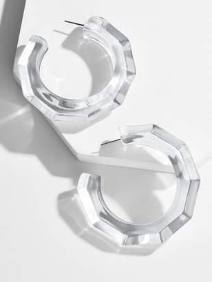 Helyn Lucite Hoop Earrings