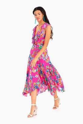 Saloni Pink Begonia Rita Short Dress