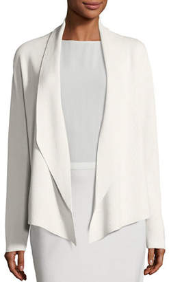 Eileen Fisher Shawl-Collar Draped Knit Jacket