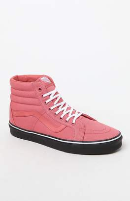Vans Sk8-Hi Reissue Black Sole Rose Shoes