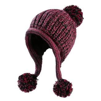 e10bc2a7f3a38 HUAMULAN Women Skull Beanie Hat Peruvian Cap Winter Fleeced Ski Ear Flaps  Pompoms