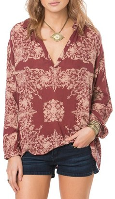 O'Neill Bradley Print Peasant Blouse $54 thestylecure.com